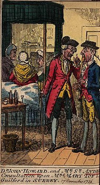 Доктор Натаниэль Сент-Андрэ посещает Мэри Тофт.